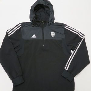 Adidas AdiPure Mens Small Black 1/4 Zip Pullover